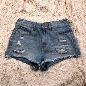 Pacsun bullhead distressed denim high rise shorts